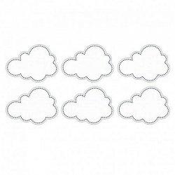 6 Pegatinas con forma Nube