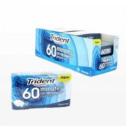 Gomme da Masticare Trident 60 Minuti di Menta 16 Pacchetti